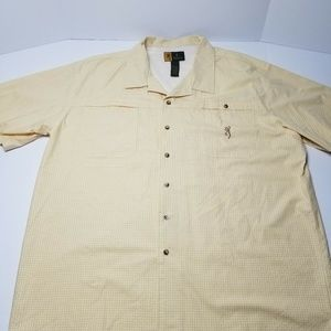 Browning Mens Yellow Short Sleeve Button Up XXL